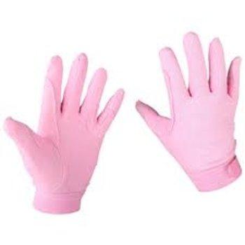 Katoenen handschoenen roze ( 10-12 jaar)