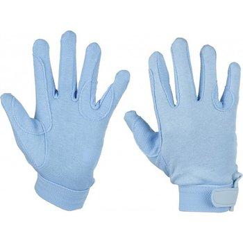 Katoenen handschoenen blauw (xxs)