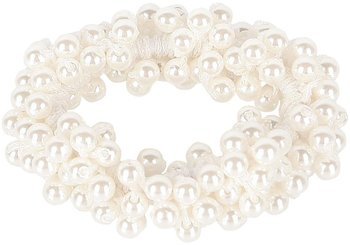 Haarelastiek wit met parels