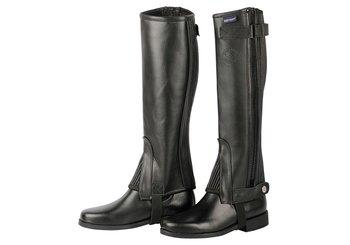 Minichaps soft leather zwart