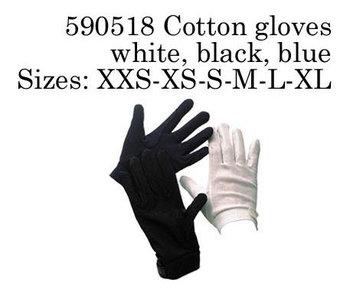 Katoenen handschoenen , zwart